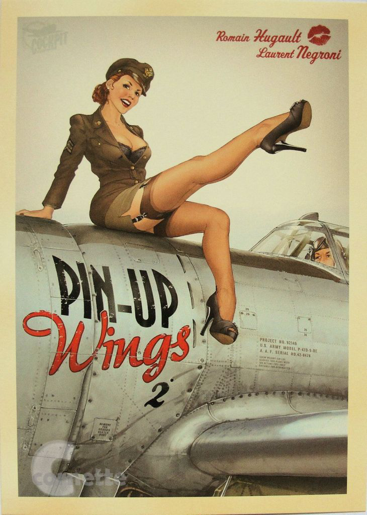 Pin-up wings poster